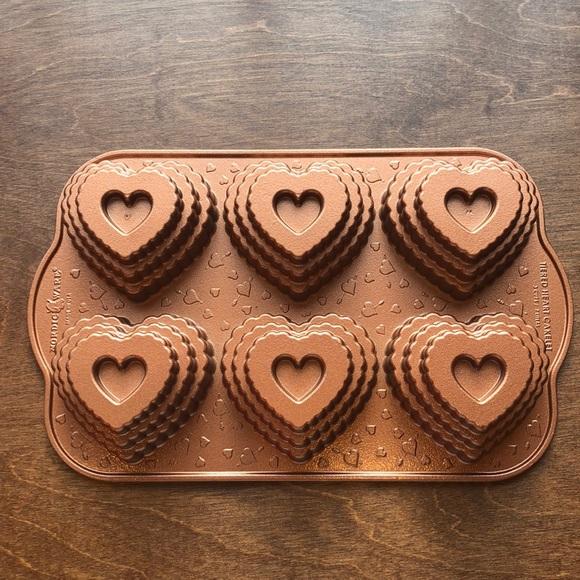 Nordic Ware Other - Nordic Ware Tiered Heart Cakelet Pan Valentine